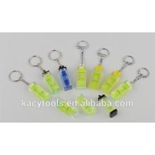 Custom Logo Promoção Nível Keychain Bolha