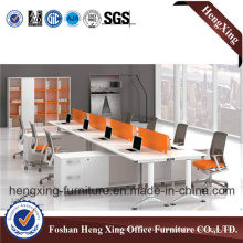 Metal Structure 8 Seats Wooden Workstation Office Partition (HX-6D056)