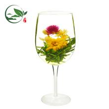 Padrão da UE Hua Kai Fu Gui (Chá de Jasmim Branco Pêssego Florescendo) Chá Chinês Florescendo