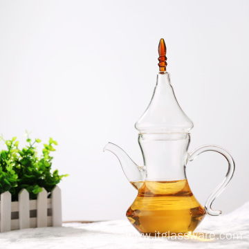 Coffee Tea Leaf Glass Teapot With Warmer