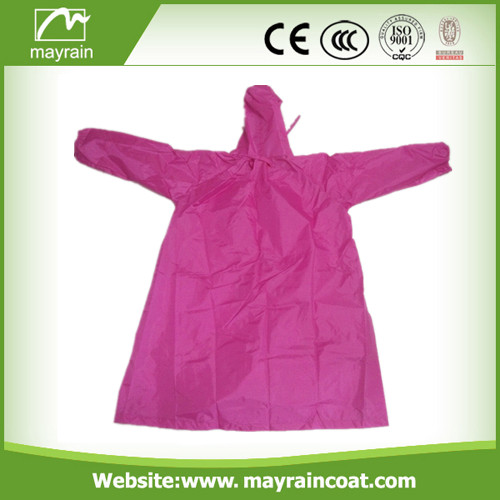Yellow Color Polyester Raincoat