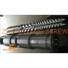 Tubo bimetálico de tornillo cónico gemelo del tubo de la fabricación PVC