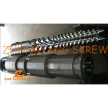Manufacturing PVC Pipe Bimetallic Twin Conical Screw Barrel