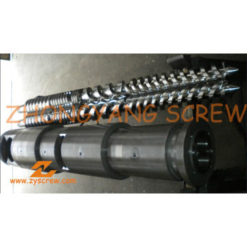 Manufacturing PVC Pipe Bimetallic Twin Conical Screw Barrel