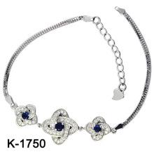 925 prata cúbicos zircônia jóias pulseiras (K-1750 JPG)