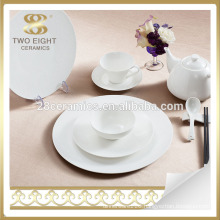 Plain white ceramic breakfast dinnerware dinner plate set bone china