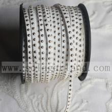 Faux süet deri kordonlar 3MM gümüş Çıtçıt DIY el sanatları ile