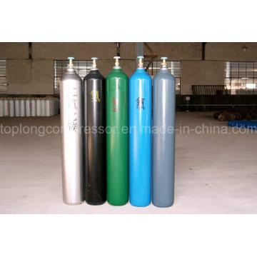 150bar / 200bar Nitrógeno de acero inoxidable de alta presión del nitrógeno Cilindro del gas del CO2 del helio del argón del hidrógeno Cilindro del CNG
