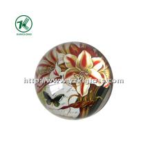 Peso de papel de cristal com papel de decalque SGS (dia8.5 * 3.5)