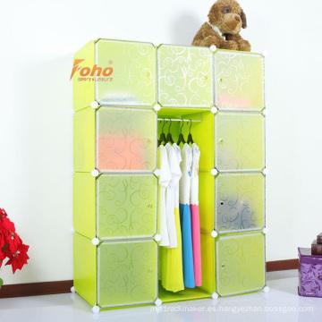 Cbinet de almacenamiento plástico verde DIY con muchos colores disponibles (FH-AL0041-9)