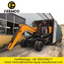 FWE90 Small Size Digging Machine Wheel Type