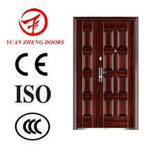 Main Wooden Color Metal Security Door