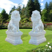 2018 decoración de jardín al aire libre talla de piedra estatua de piedra grande del león