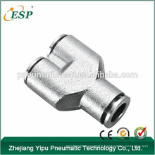 ESP union Y shape connector pneumatic metal fittings pneumatic pipe accessories