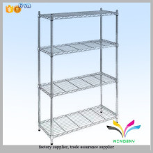 Customized commercial sturdy welded chrome free standing 3 tiers adjustable wire rack