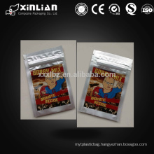 full printing aluminum mylar foil fresh seal bag with zipper