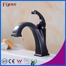 Fyeer Black Bathroom Antique Copper Faucet