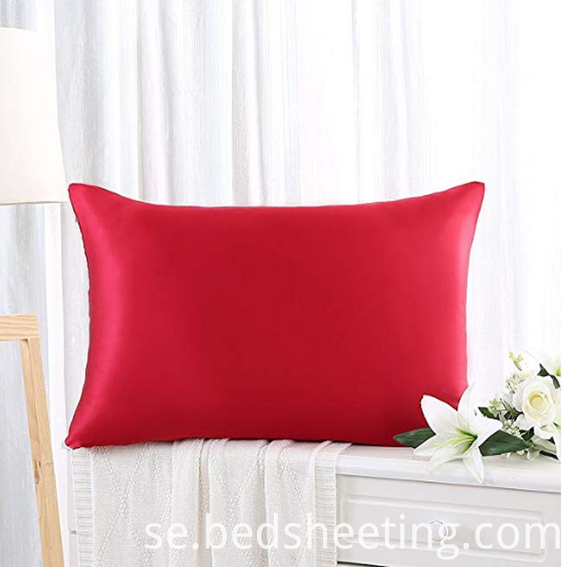 Burgundy Silk Queen Pillow Case