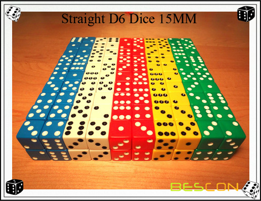 Straight D6 Dice 15MM