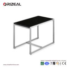 Mesa de centro de cristal negra cuadrada grande de Orizeal (OZ-OTB011)