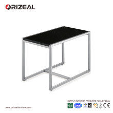 Orizeal Large Square Black Glass Coffee Table (OZ-OTB011)