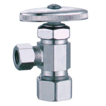 Push Fit Angle Stop Valve Straight Handle
