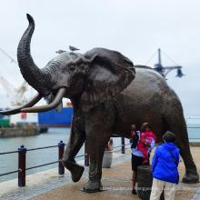 metal outdoor public decoration large bronze elephant sculpture