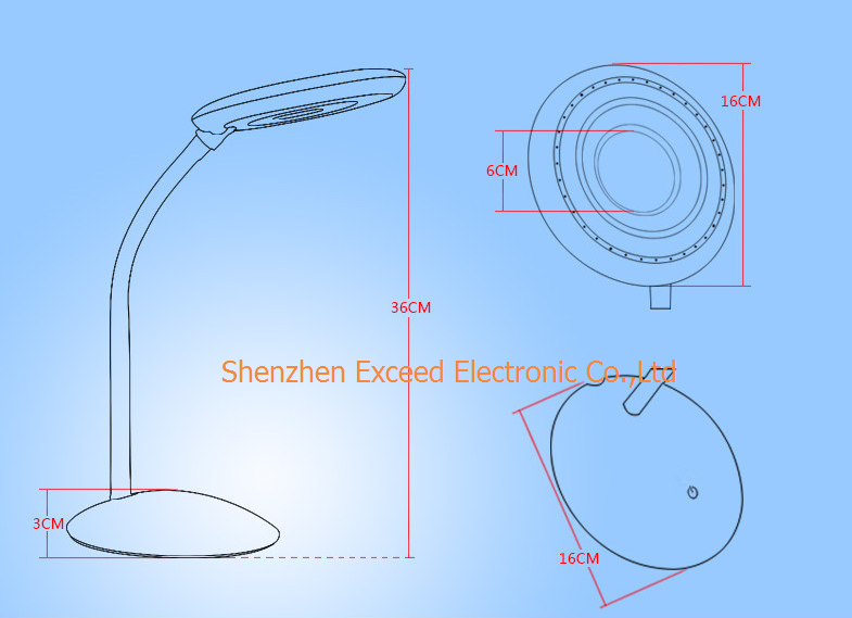 Round LED Desk Lamp 6W