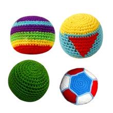Kick Juggling Ball Handgestrickte Gehäkelte Hacky Sack Footbag