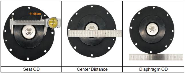K10203 Goyen Type Buna Diaphragm Repair Kit