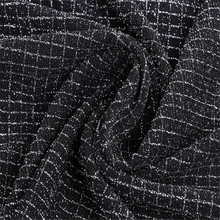 Черная жаккардовая ткань Fashion Designs для Garemnt