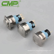 Interruptor de botón de metal de bloqueo automático de 22 mm