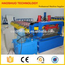 Stahlfliesen-Rolle, die Maschine für Metalldachbelag-Glasur-Fliese bildet