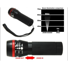 """Red Signal """"O""""Ring LED Flashlight with Zoom Function"""