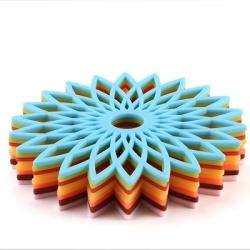 Custom Hollow-colored non-slip coaster