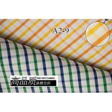 Amarillo/naranja comprueba Chequer hilado teñido de tela de camiseta