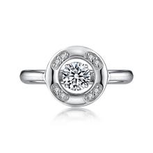 925 Anneaux de diamants en dancing en argent avec Micro Setting CZ