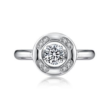 925 серебряных танцевальных бриллиантовых колец с микро-настройками CZ