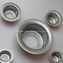 Componentes do rolo transportador de correia que carimbam o bloco do rolamento de esferas