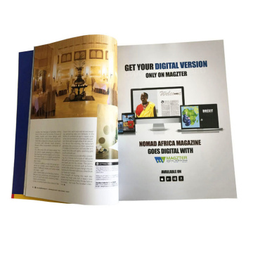 Glossy Lamination Custom Book Catalog Brochure Booklet
