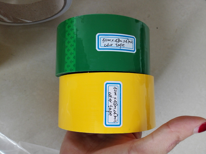 Adhesive packing tape in colorful