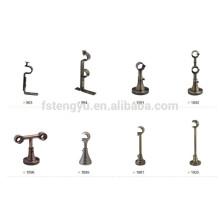 Support à bielle à double rideau Ensemble de fixation à double paroi en bronze antique