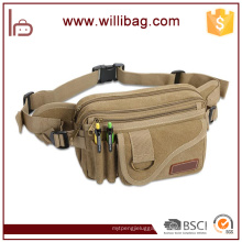 High Quality Fashion Outdoor Multi-Pocket Canvas Waist Bag