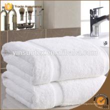 Toalla de toalla de algodón de grado superior toalla blanca de uso hotel