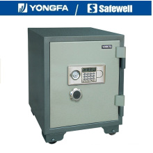 Yongfa 60cm de altura Ald Panel electrónica a prueba de fuego caja fuerte con perilla