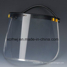 PC Visor Face Shield für Sicherheitshelm, PVC Face Shield Visor, Transparente Face Shield Visier, Green Face Shield, PVC / PC Screen Faceshield Visor, Schutzmaske