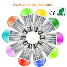 2014 Nuevo diseño 7W RGB / bulbo blanco caliente del LED