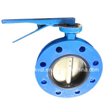 Butterfly Valve Double Flange BS5155 S13 with Vulcanized Seat