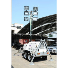 H1000 Serie mit 15kVA 404D-22g Mobile Light Tower Generator Set / Diesel Generator
