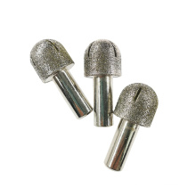 China 6mm 12mm electroplate  brazed  diamond routers bit for sculptor marble